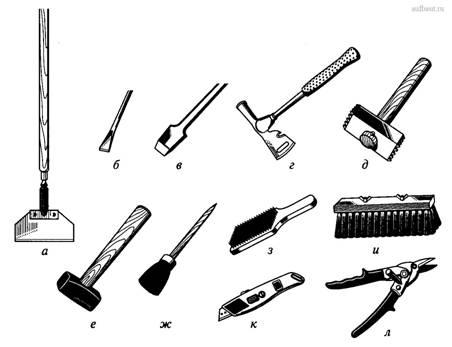Инструменты для подготовки поверхности